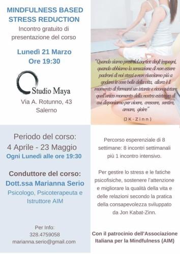 Mindfulness Based Stress Reduction salerno